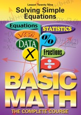 Basic Math Series: Solving Simple Equations DVD