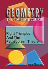 Geometry - The Complete Course: Right-Triangles & The Pythagorean Theorem DVD