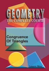 Geometry - The Complete Course: Congruence Of Triangles DVD