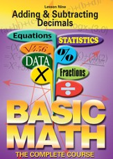 Basic Math Series: Adding & Subtracting Decimals DVD
