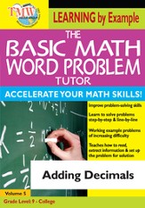 Basic Math Word Problem Tutor: Adding Decimals DVD