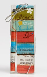Loving God's Abundant Life Pen and Bookmark Gift Set
