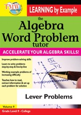 Algebra Word Problem: Lever Problems DVD