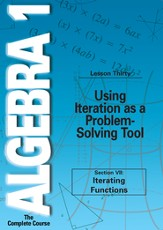 Algebra 1 - The Complete Course: Using Iteration as a Problem-Solving Tool DVD