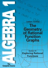 Algebra 1 - The Complete Course: The Geometry of Rational Function Graphs DVD