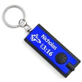 Personalized, Blue Flashlight, Believe, John 3:16