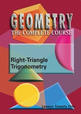 Geometry - The Complete Course: Right-Triangle Trigonometry DVD