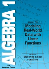 Algebra 1 - The Complete Course: Modeling Real-World Data with Linear Functions DVD