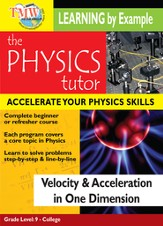 Physics Tutor: Velocity and Acceleration In One Dimension DVD