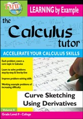 Calculus Tutor: Curve Sketching Using Derivatives DVD