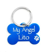 Personalized, Dog Tag, My Angel, Blue