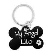 Personalized, Dog Tag, My Angel, Black