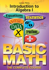 Basic Math Series: Introduction to Algebra I DVD