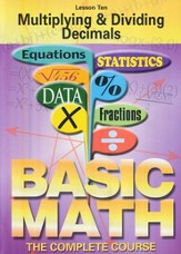 Basic Math Series: Multiplying & Dividing Decimals DVD