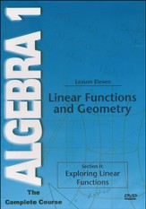 Algebra 1 - The Complete Course: Linear Functions and Geometry DVD