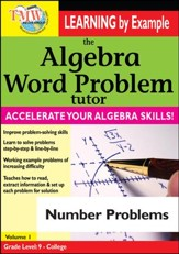 Algebra Word Problem: Number Problems DVD