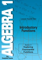 Algebra 1 - The Complete Course: Introductory Functions DVD