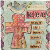Believe, Cross Wall Art