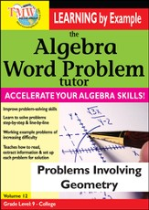 Algebra Word Problem: Problems Involving Geometry DVD