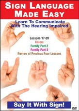 Sign Language Series Lessons 17-20: Colors, Sports & Family DVD
