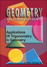Geometry - The Complete Course: Applications Of Trigonometry In Geometry DVD
