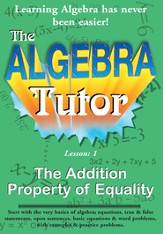 Algebra Math Tutor: Addition DVD