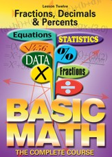 Basic Math Series: Fractions, Decimals & Percents DVD