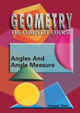 Geometry - The Complete Course: Angles & Angle Measure DVD