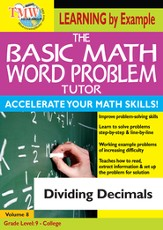 Basic Math Word Problem Tutor: Dividing Decimals DVD