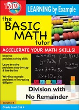 Basic Math Tutor: Division With No Remainder DVD
