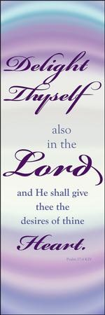 Delight Thyself in the Lord Fabric Banner (2' x 6')