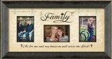 Family, As For Me and My House Photo Frame