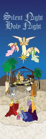 Nativity - Silent Night, Holy Night Banner (2' x 6')