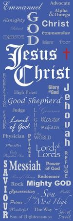 Names of Jesus Fabric Banner (2'x 6')