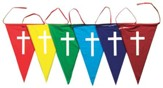 Rainbow Pennants (Pack of 6)