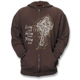 Trusting In Christ Zippered Hoodie, Medium (38-40)