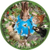 Animal Arena, 500 Piece Round Jigsaw Puzzle