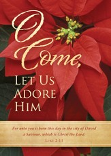 O Come, Let Us Adore Him, Box of 12 Christmas Cards