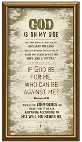 God Is On My Side Framed Art