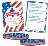 God Bless America Bracelet with Pocket Card