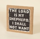 The Lord Is My Shepherd, Burlap Framed Art