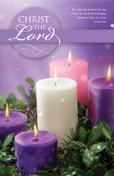 Christ The Lord (Luke 2:11) Advent Bulletins, 100