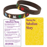 Salvation Story Silicone Bracelet with Card, Spanish