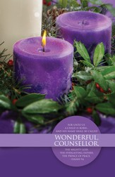 Wonderful Counselor (Isaiah 9:6) Advent Bulletins, 100