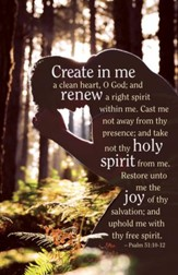Create In Me (Psalm 51:10-12) New Year Bulletins, 100