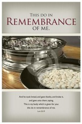 This Do In Remembrance of Me (Luke 22:19) Bulletins, 100