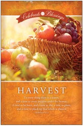 Celebrate the Blessings, Harvest (Ecclesiastes 3:1-2) Bulletins, 100