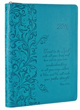 2016 Trust, Engagement Planner, Imitation Leather, Turquoise