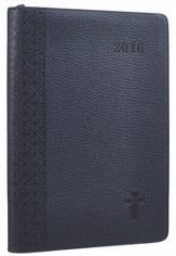 2016 Executive Planner with Cross, Imitation Leather, Blue
