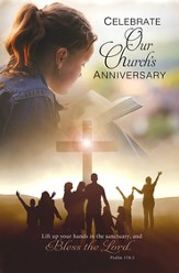 Celebrate Our Church's Anniversary (Psalm 134:2) Bulletins, 100